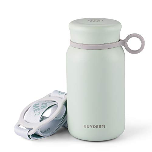 Born for Girls & Ladies, Buydeem CD13 Thermos Water Bottle Tumbler Flask, Cute Unique Design, Wide Mouth with Screw-on Lid, Stainless Steel Coffee Tea Travel Mug