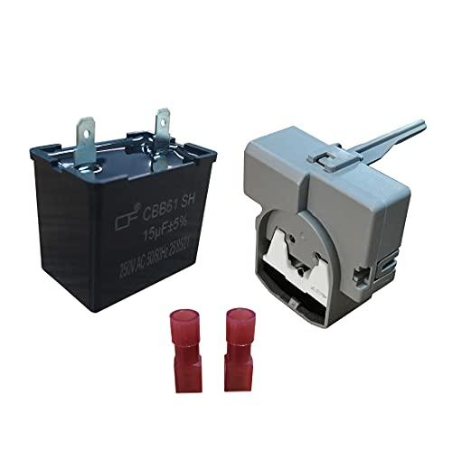 2319792 W10197428 TSD2 Start Device Combination and 2264017 Compressor Run Capacitor for Whirlpool Refrigerator & Freezer W10662129 W10189190 241941003-1 YEAR WARRANTY