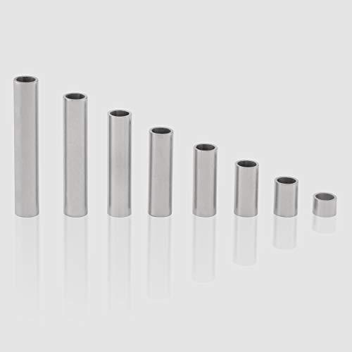 Edelstahl Distanzhülsen, Abstandshülsen – ohne Innengewinde, M5 Schrauben beweglich durchsteckbar – 7 x 5.4 x 0.8 mm (Außen x Innen x Wandstärke) – 10 Stück, Länge 20 mm