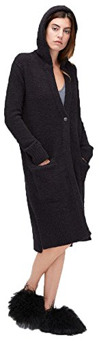 UGG Womens Judith Cardigan, Black, Size Medium/Large