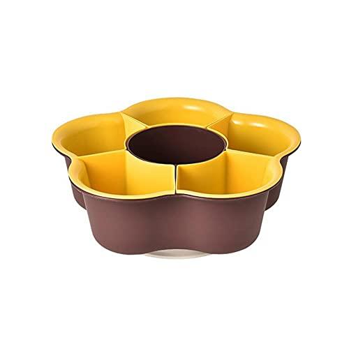 KIMIST Cesta de drenaje de dos colores de doble capa giratoria lavabo de drenaje multifuncional cesta de lavado de verduras de doble capa cesta de fruta móvil de drenaje