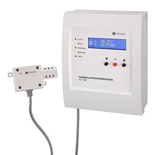 TLF1000 Temperatur-Luftfeuchteschalter inkl. Sensor, Thermostat, Hygrostat, 230V
