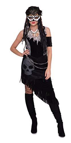Folat 64054 Voodoo-jurk voor dames - maat L-XL, zwart