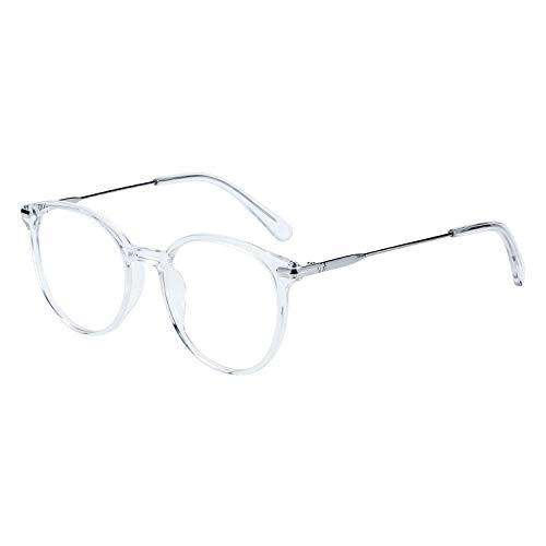 ZENOTTIC Round Optical Glasses Transparent Frame Clear Lens Eyewear Non-prescription Eyeglasses for Women