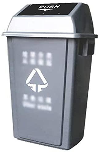 ZSY Parque Cubiertas, estación de Metro Centro Comercial Centro Comercial contenedores de Reciclaje Guardar Espacio de clasificación de plástico de plástico (Color : Gray, Size : 23 * 35 * 45CM)