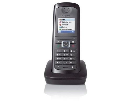Gigaset E49H Dect-Schnurlostelefon wasser und staubgeschützt (IP54), zusätzliches Mobilteil, schwarz/graphit