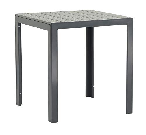 Pure Home & Garden Aluminium Gartentisch Fire Square mit Polywood Tischplatte, 70x70 cm absolut wetterfest, anthrazit