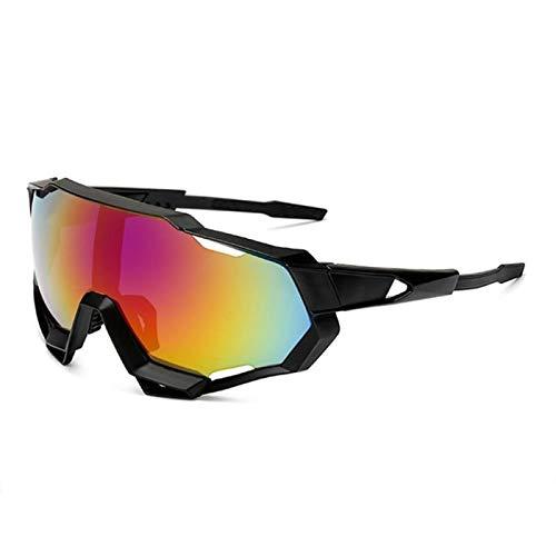 Comoda Gafas de Motocicleta Proof y PC Profesional Professional Polarized Cycling Gafas Gafas Bicicletas Deportes al Aire Libre Gafas de Sol Gafas de Sol UV Proteccion (Color : 7)