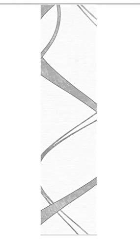 Vision S Schiebegardine TIBANO Mitte, halb-transparenter Stoff in Bambus-Optik, 260 x 60 cm (h x b), Farbe: (grau)