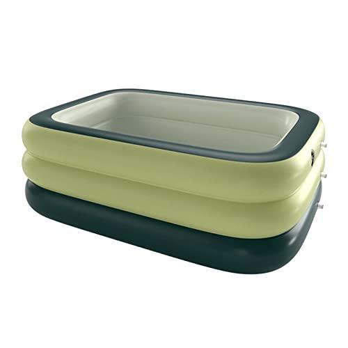 SVNA Piscina Inflable para el hogar, Piscina Inflable Grande e Inteligente Plegable para Adultos y niños (Color : Green-XL)