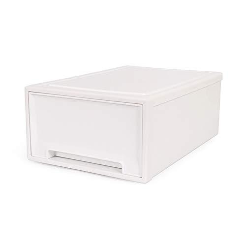 ERRU- Casiers de Cabinet de boîte de rangement Armoire Blanc Finition givrée de type tiroir de tiroir en plastique Boîte de finition (taille : L-42 * 32 * 18cm)