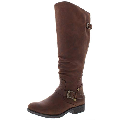 BareTraps Womens Yanessa Closed Toe Knee High Fashion Brush Brown
