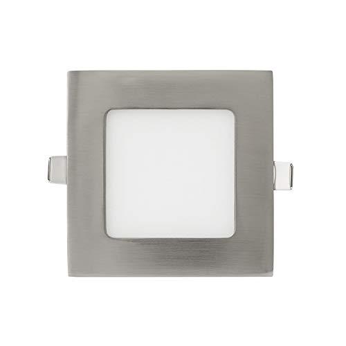 KHEBANG Downlight Panel Led 8W Empotrable Super Slime LED Níquel Cuadrado Blanco...