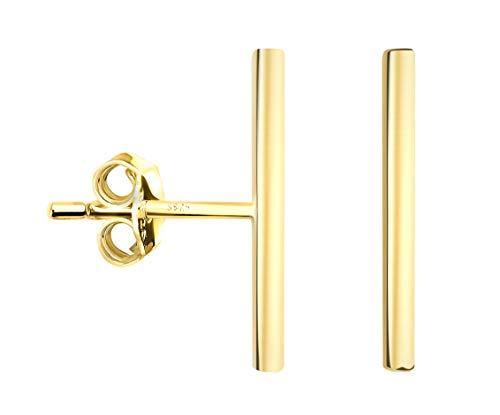 SOFIA MILANI - Damen Ohrringe Ohrstecker 925 Silber - vergoldet/golden - Stab Schlicht - 20574