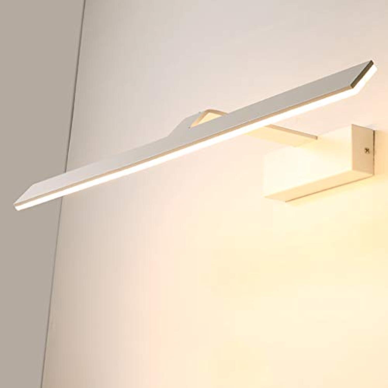ZMFL Spiegelleuchten LED Spiegel Scheinwerfer Badezimmer Wandleuchte Spiegel Kabinett Lampe Wasserdicht Anti-Fog Makeup Lampe Wei Lnge  42 62 82 102   122cm (gre   62cm-10W)