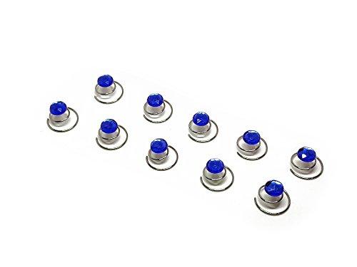 10 x Straß Curlies - Strass Curlie - Brauthaarschmuck, Haarschmuck | SHF - Blau
