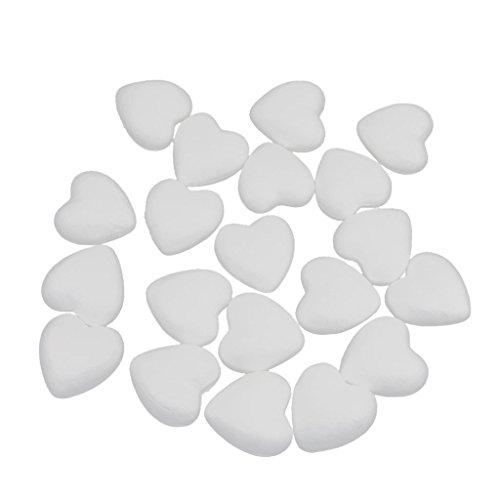 Unbekannt Non-Brand 20 Stücke 6 cm Weiß Styropor Herz Handwerk Schaum Ball DIY Hochzeit /