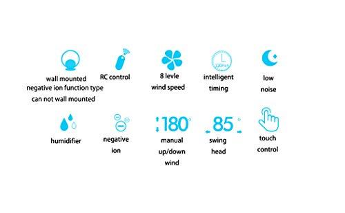 Fan QUANFANG bladloze ventilator ultrastille blaasloze ventilator/RC-controller ventilator negatieve ionen optioneel blauw, zilver, roze