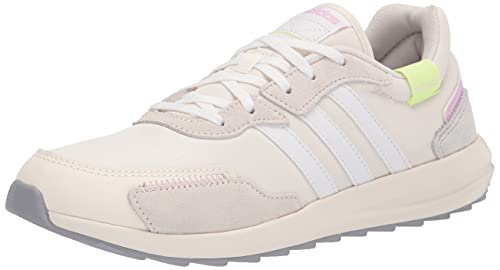 adidas Women's Retrorun Running Shoe, Chalk White/White/Dash Grey, 8