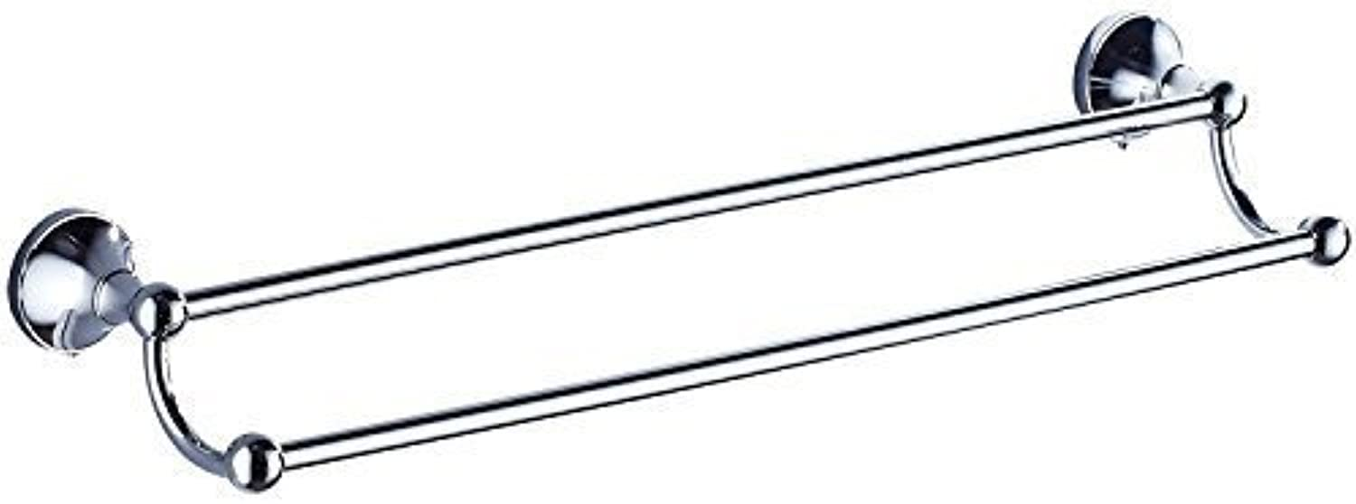 Accessories for Bathroom Chrome Plating Door for Copper-Towels Bar Simple Double