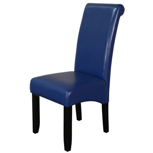 Monsoon Pacific Milan Faux Leather Dining Chairs, Set of 2, Blue