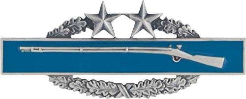 Army Combat Infantry Badge (CIB) 3rd Award Silver Ox Full Size Badge