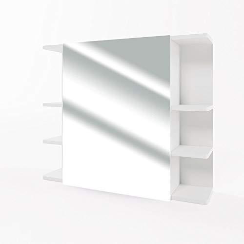 Vicco Armario con Espejo Fynn Espejo de baño Blanco 80 cm con estantes...