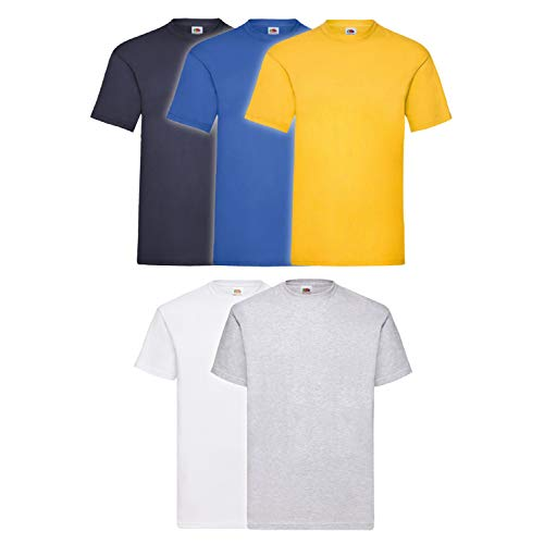 Fruit of the Loom 5er Pack T-Shirts, Farbset III, Größe L