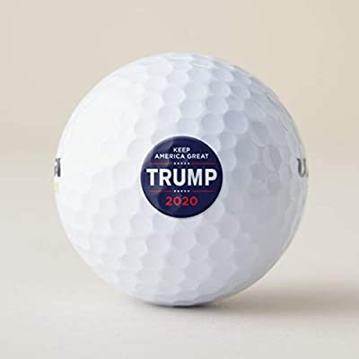 McC538arthy Novelty Golf Ball, Donald Trump Make America Great Again 2020 Practice Recycled Balls Personalized Stocking Stuffer Gifts Just Because Presents for Him/Her White