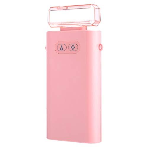 Socobeta Ventilador humidificador no tóxico Rosa Ventilador de Mano Resistencia al Impacto Portátil para Actividades en Interiores al Aire Libre