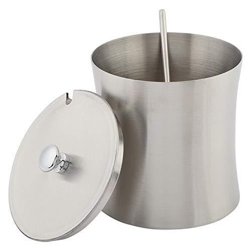 Zuccheriera in acciaio inox Spezie Sale Pepe Condimento Vaso Vaso con cucchiaio di copertura, Cucchiaio a manico lungo, Cucchiaio per insalata/zuppa in acciaio inossidabile per uso domestico