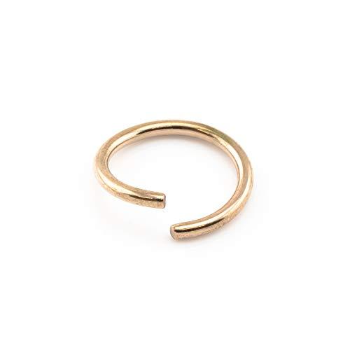 18K ROSEGOLD Unecht Piercing Ring Nase Lippen Ohr Körper Verschiedene Größen & Messgeräte - 1.6mm x 12mm