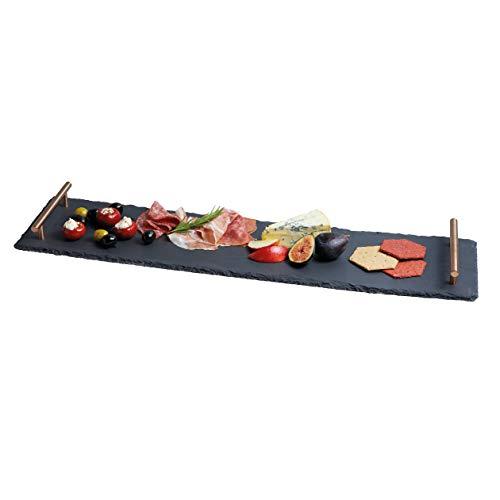 Artesa Kitchen Craft Master Class Ardesia Vassoio/Piatto con Manici Finitura in Rame, 60x 15cm (59,7x 15,2cm)