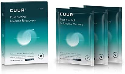 CUUR Post Alcohol Fast Recovery for Better Nights Mornings Energy Hydration Electrolytes Headache product image