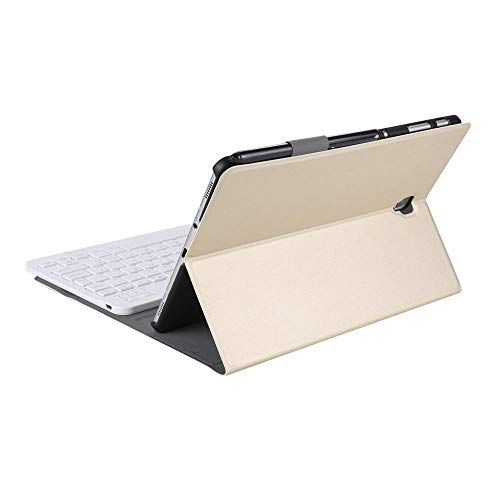 Yi-xir Fashion Design Tablet Funda de Teclado Bluetooth para Samsung Tab S4 10.5 Mesa Careful Service (Color : Gold)