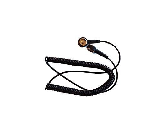 Antistatisches Erdungskabel, 10mm auf 10mm, für Handschlaufe oder Arbeitsflächenmatte WITHOUT Wrist Strap 6ft (1.8m)