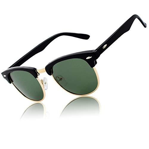 CGID Gafas de sol polarizadas retro medio marco clásico para Hombre y Mujer MJ56