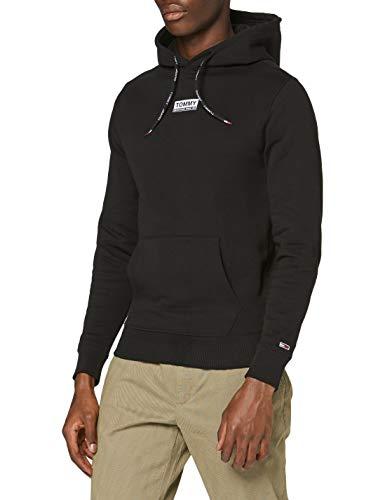 Tommy Jeans Herren TJM Essential Graphic Hoodie Pullover, Schwarz (Black), M