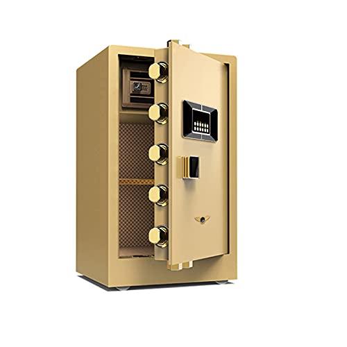 BIEKANNM Digitaler Elektronischer Tresor Sicherheitskasten Feuerfester Und Wasserdichter Sicherheitsschrank Mit PIN, Für ID-Geld Schmuck Bargeld Wichtige Datei Für Das Home Office Hostel-Golden||