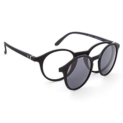 DIDINSKY Gafas de Presbicia con Filtro Anti Luz Azul con Capa de Sol. Gafas Clip on Imantadas para Hombre y Mujer. Tacto Goma y Cristales Anti-reflejantes. Graphite 0.0 – UFFIZI CLIP ON
