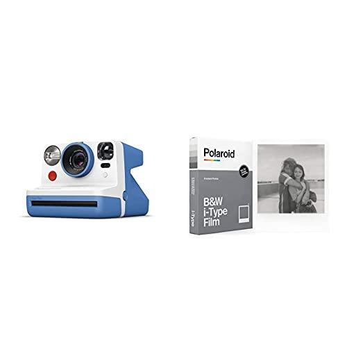 Oferta de Polaroid - 9030 - Polaroid Now Cámara instantánea i-Type Azul + Película Instantánea N y B para i-Type