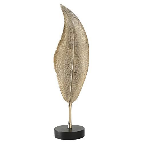Whole House Worlds Deko-Objekt Milava, Blatt, mit Ständer, H 65 cm, Metall, Gold, Innen