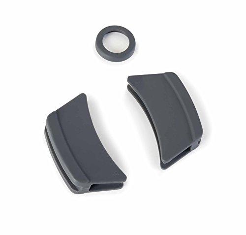 Lacor R25935G Pack De 3 Protectores De Silicona Para Cacerola Con Tapa Oval Fundición, Gris