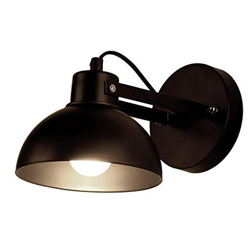 ZYLZL Apliques de pared para dormitorios Aplique de pared de hierro forjado de metal industrial vintage con E27 Aplique de pared ajustable de 1 luz para sala de estar Aplique de iluminación de lectur
