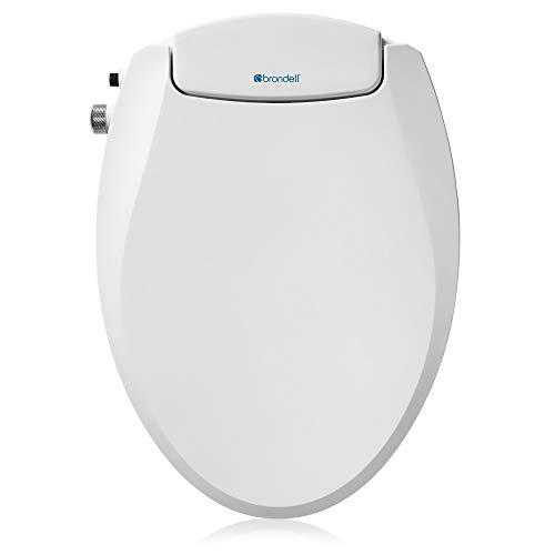 Brondell Swash Ecoseat Non-Electric Bidet Toilet Seat, Fits Elongated Toilets, White - Dual Nozzle System, Ambient Water Temperature - Bidet with Easy Installation