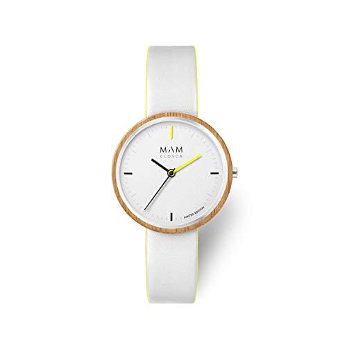 Reloj MAM Originals Mujer CLOSCA White 97 + Botella DE Agua DE Regalo
