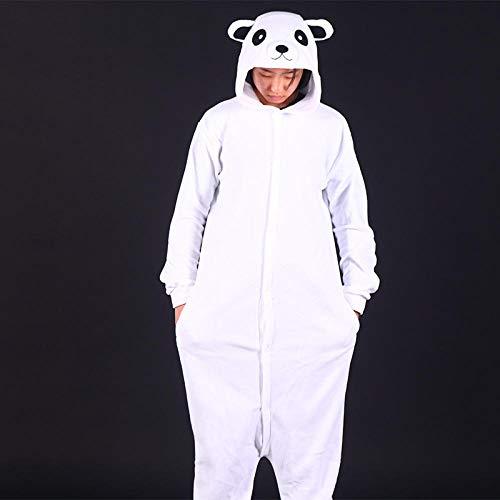 NF Pyjama Panda Blanc Kigurumis Animal Pyjama Chaud Mignon Onesie Adulte Maison Combinaison de noël Tenue Femmes Couple vêtements de Nuit Costume Doux-Panda Blanc_S