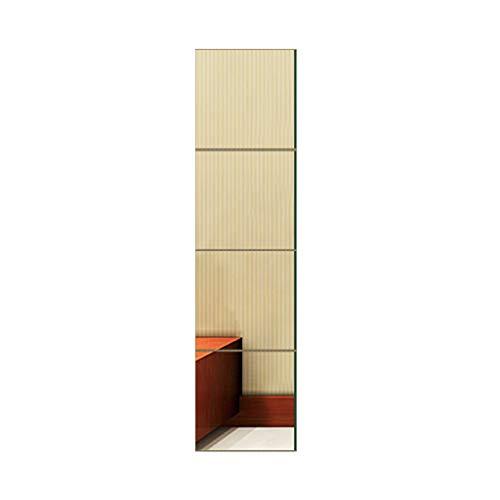 Miroir Mural Sans Cadre Dressing Miroirs Coller Combinaison Convient Aux Séjour Toilette Salle De Bain Utilisation 5 Taille Z1220 (Size : 30 * 120cm)