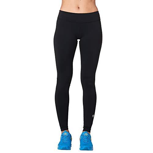 Zumba Fitness Leggings de Compresión Básicos Mallas de Deporte de Mujer de Entrenamiento, Black Plain, XS