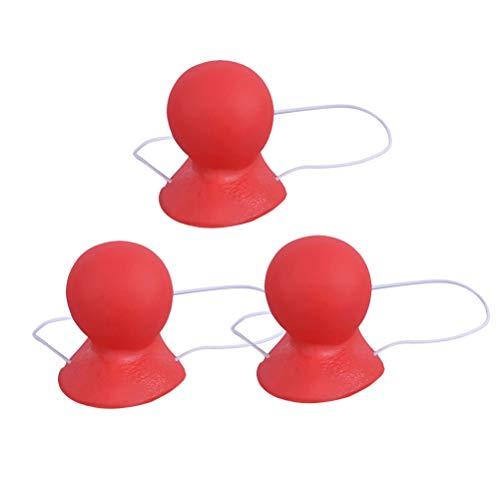 BESTOYARD 3pcs Clownsnasen Zirkus Nase für Clown Kostüm Cosplay Requisiten (Rot)